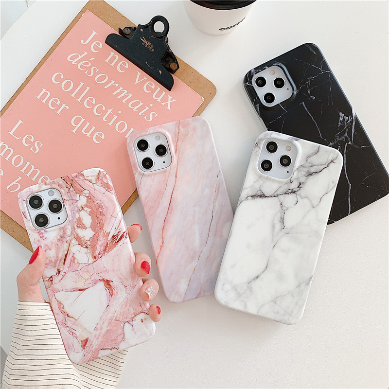 Classy Faux Marbling Print Phone Cases for iPhones