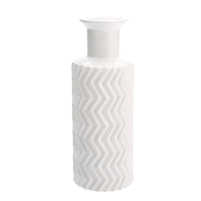 Minimalist Chevron Detailing Containers for Functional Tabletops