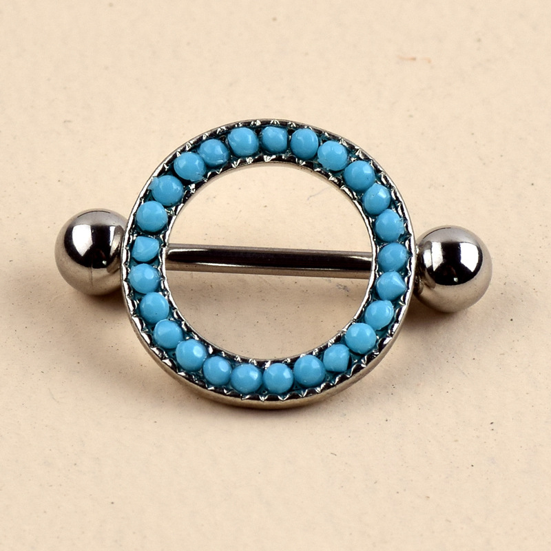 Turquoise Inspired Nipple Ring