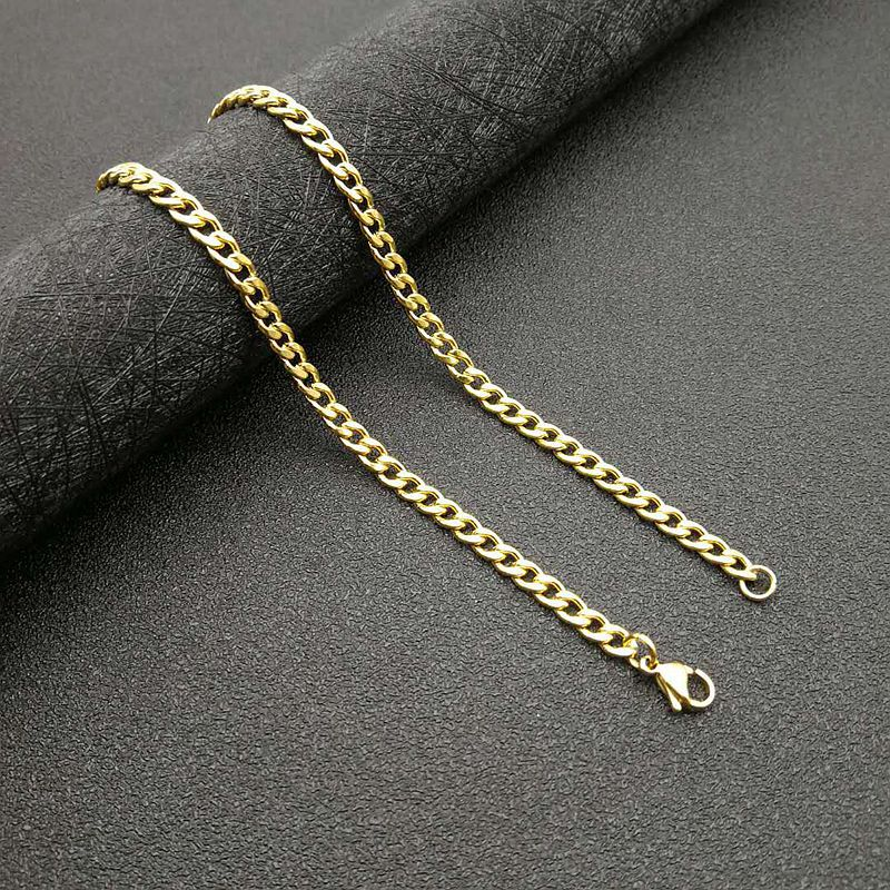 Trendy Curb Chain Necklace for Hip Hop Style