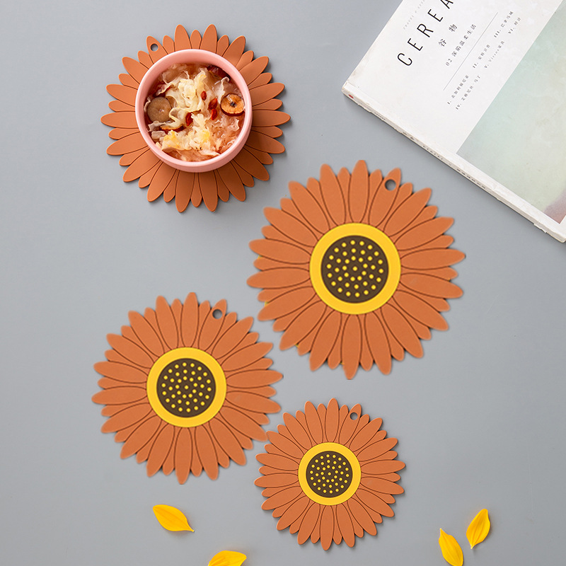 Soft Plastic Sunflower Placemats for Kitchen