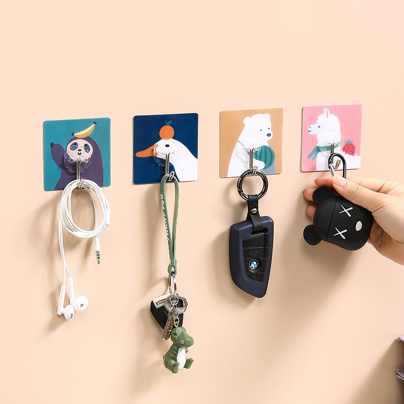 Cute Cartoon Animal Wall-Mounted Hook for Children's Rooms