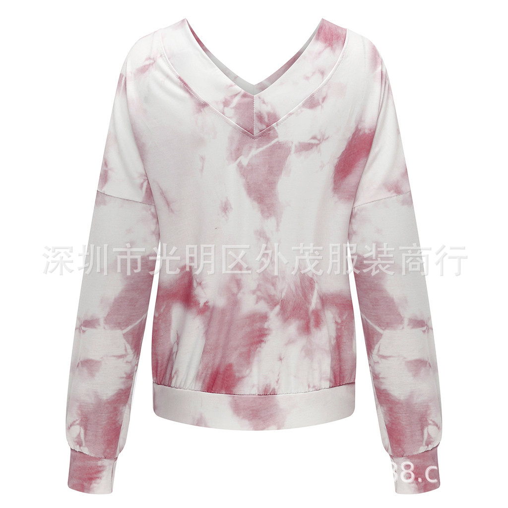 Oversized Long-Sleeved Tie-Dye Top for Girls' Day Out