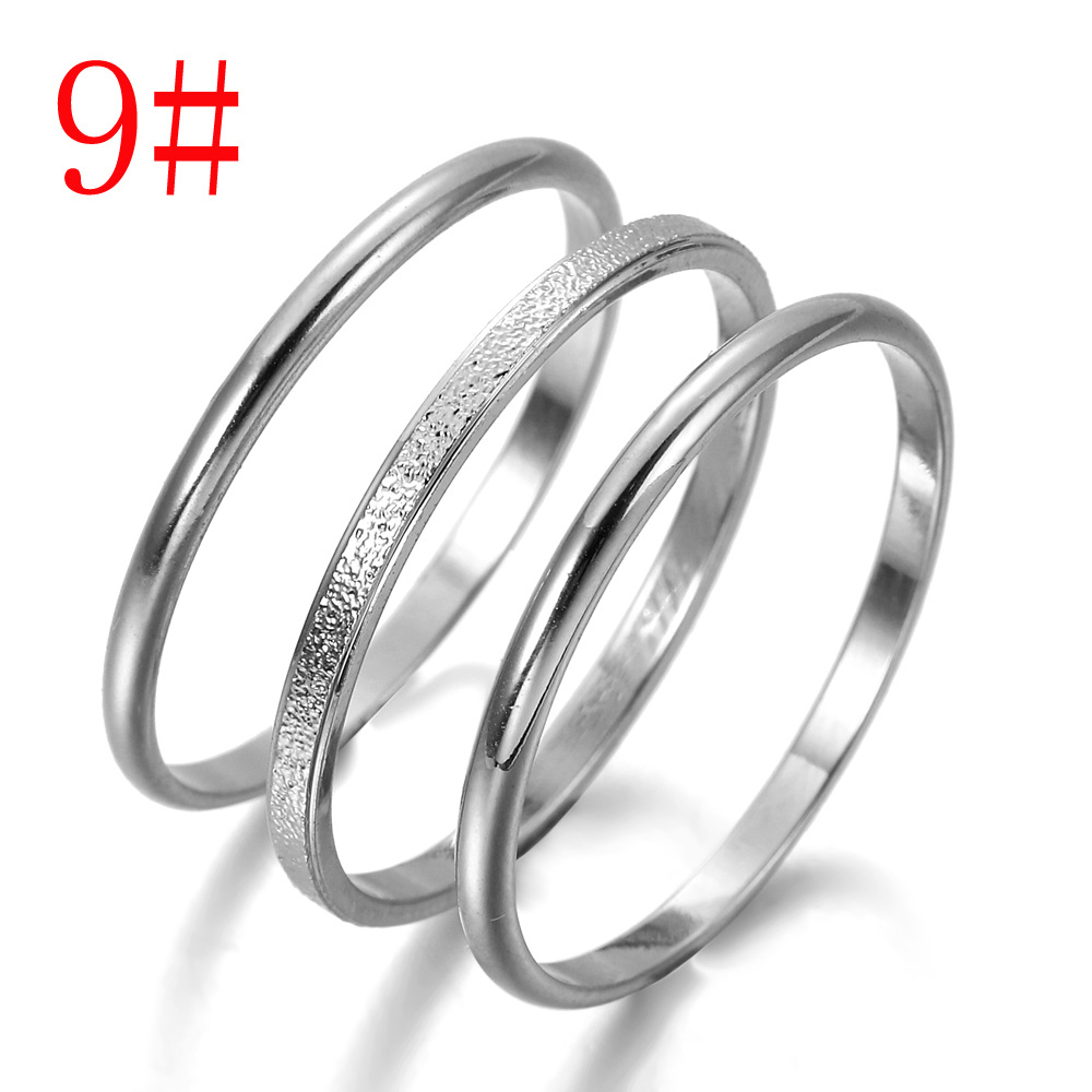 Minimalist Three-Piece Stacking Rings for Casual Wear