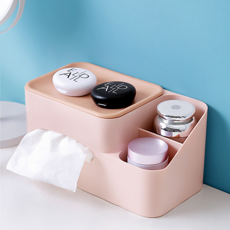 Pastel Colored Multifunctional Tissue Box Cover for Pleasant Vibe Table Decor