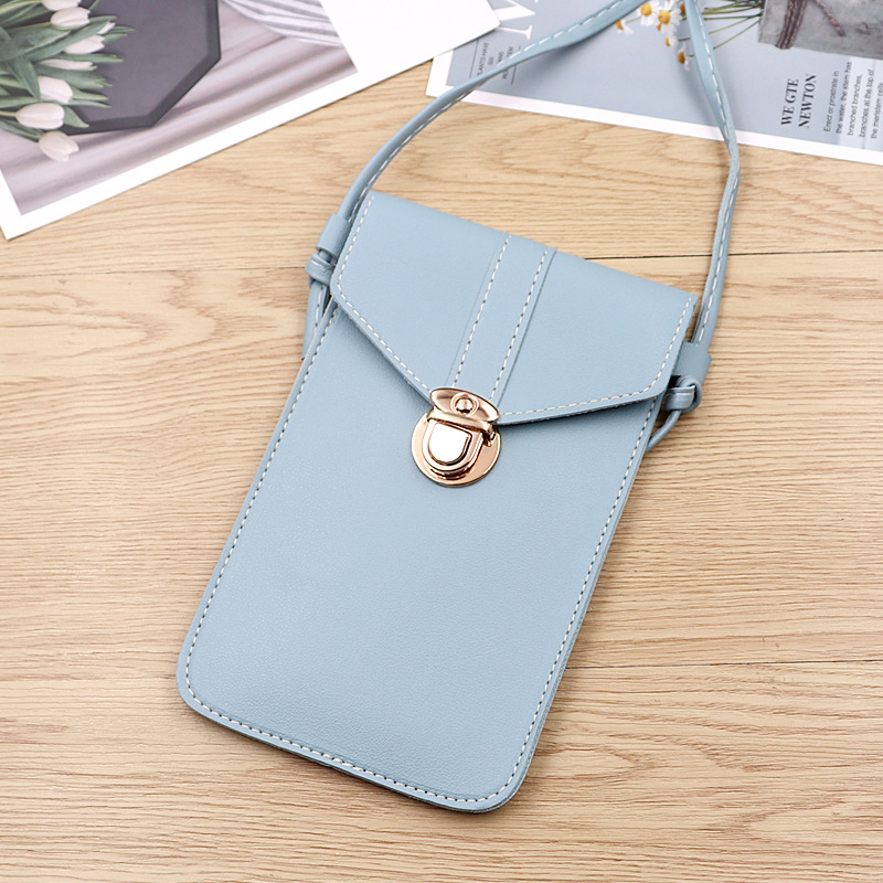 Chic and Classy PU Leather Mobile Phone Bag for Quick Errands
