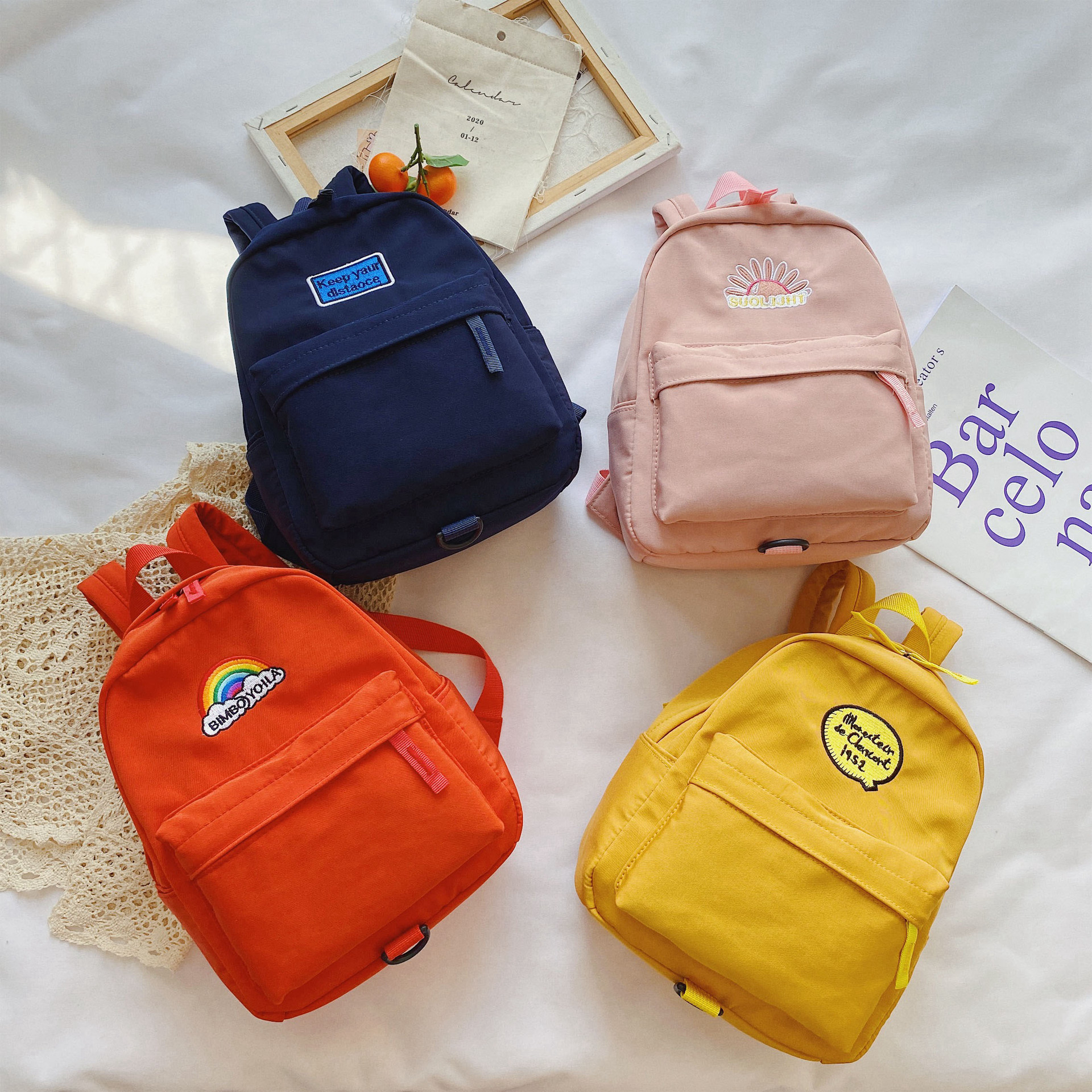 Statement Patch Mini Backpack with Safety Strap for Young Children