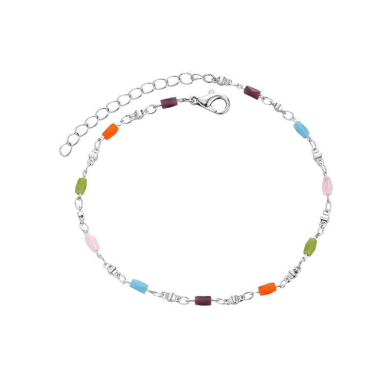 Colorful Copper Anklet for Beautiful Foot Jewelry
