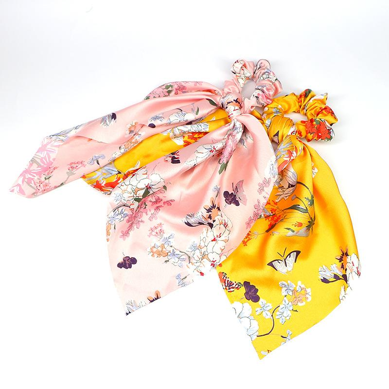 Butterfly and Flower Hair Scrunchie