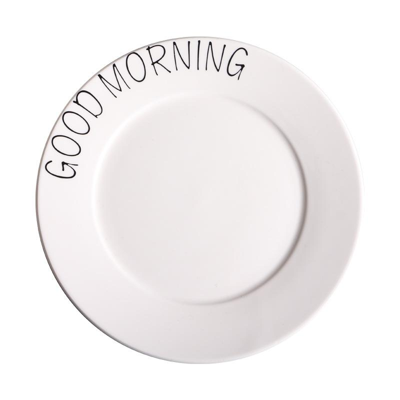 """""""Good Morning"""" Round Plate"""