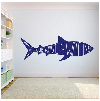 Your Wave is Waiting Sharky Wall Sticker