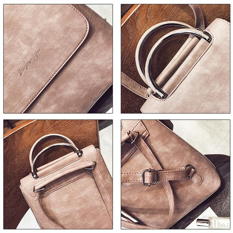Spacious Leather Back Pack