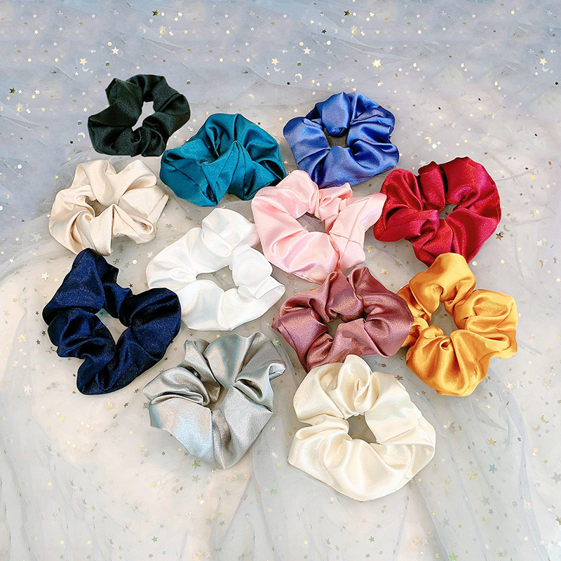 Large Satin Classic Hair Scrunchie