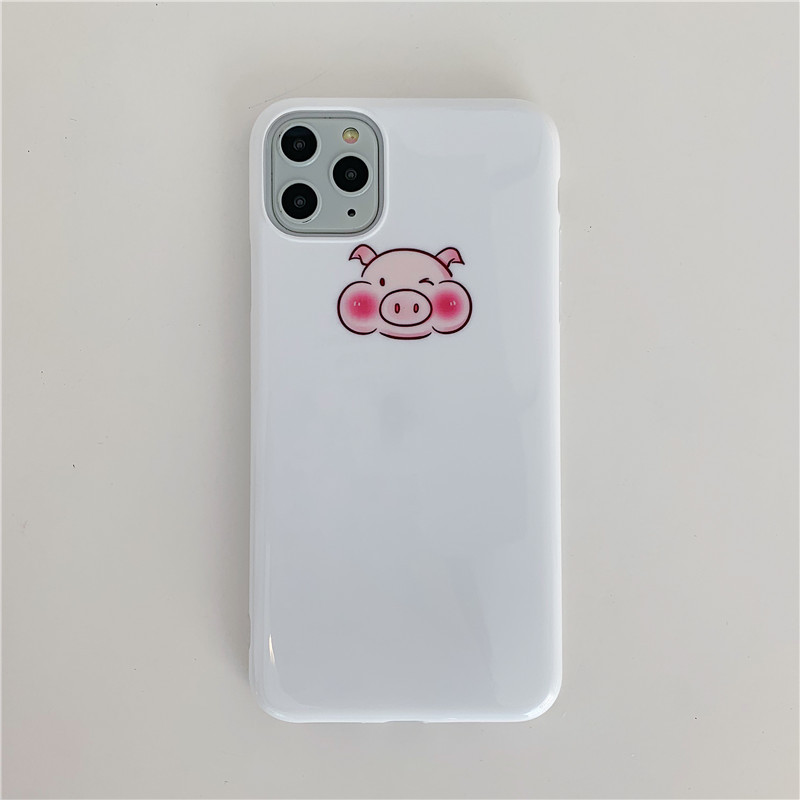 Cute Dinosaurs and Piggy Mobile Case for iPhone