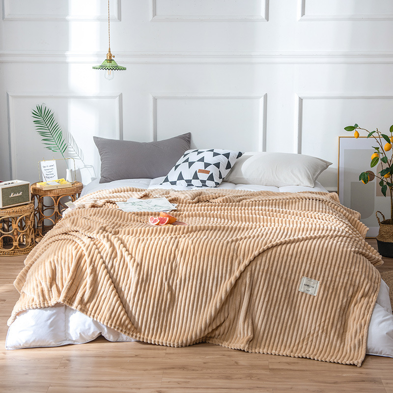 Ivanna Ribbed Polyester Blanket