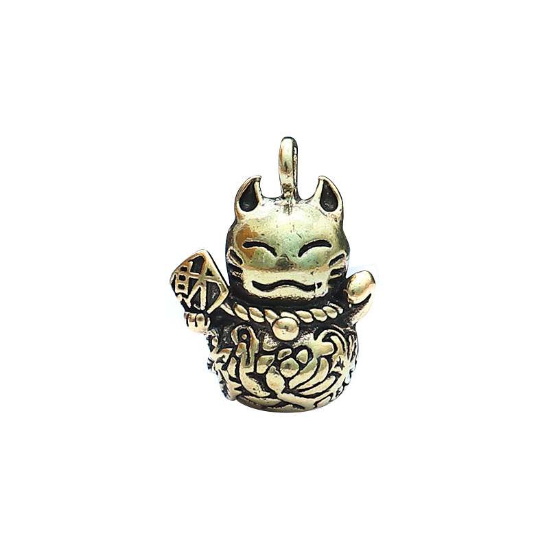 Stylish Pure Copper Keychain Pendant with Cat Design for Party Occasion
