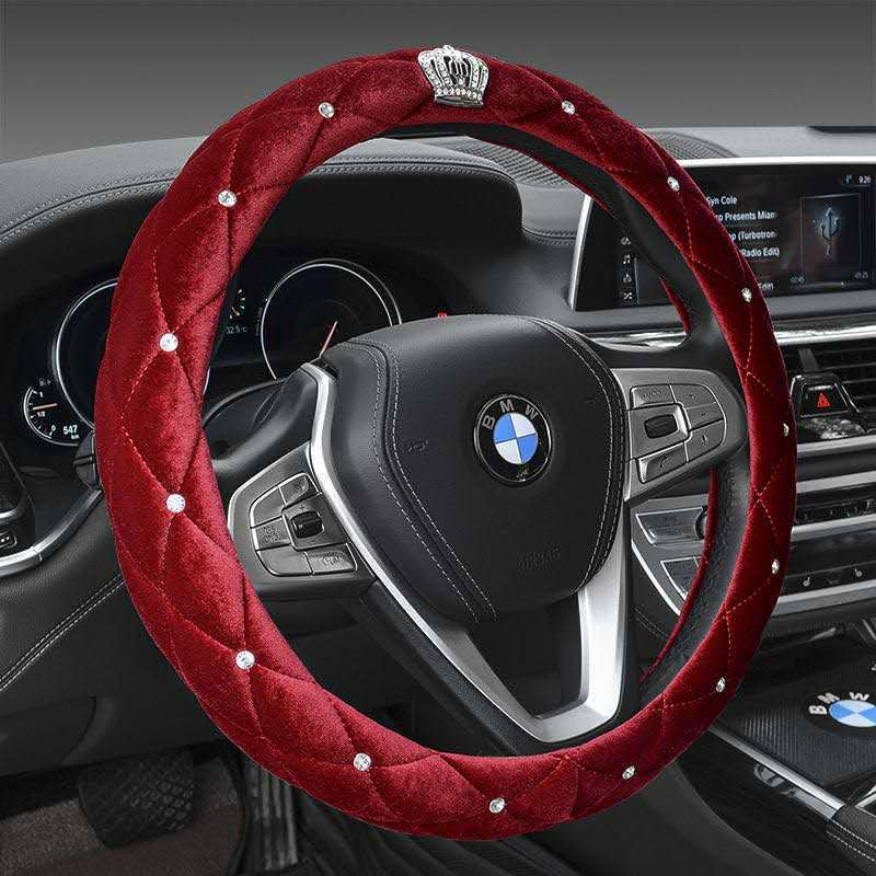 Elegant With Crown Details Steering Wheel Cover for Girl Boss Car