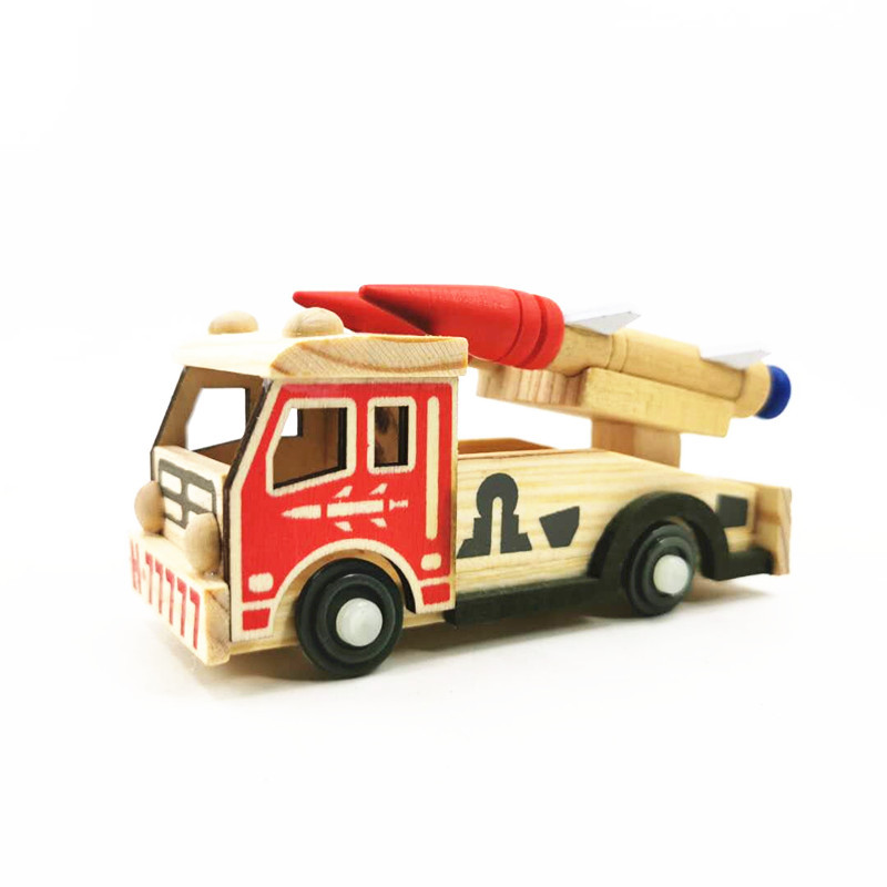 Artistic Wooden Military Vehicle Models for Gifting to Children