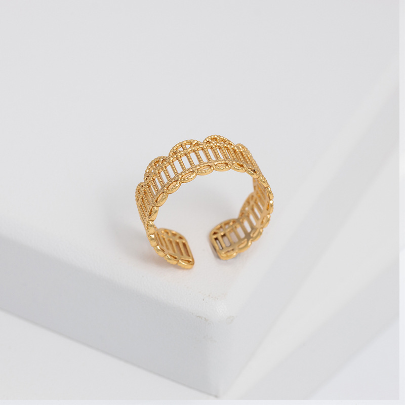Lace-Like Golden Open Ring
