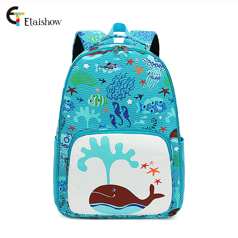 Under the Sea Themed Polyester Backpack for Adventurous Kids