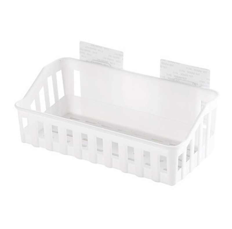Strong-Hold Adhesive Bathroom Rack for Toiletries