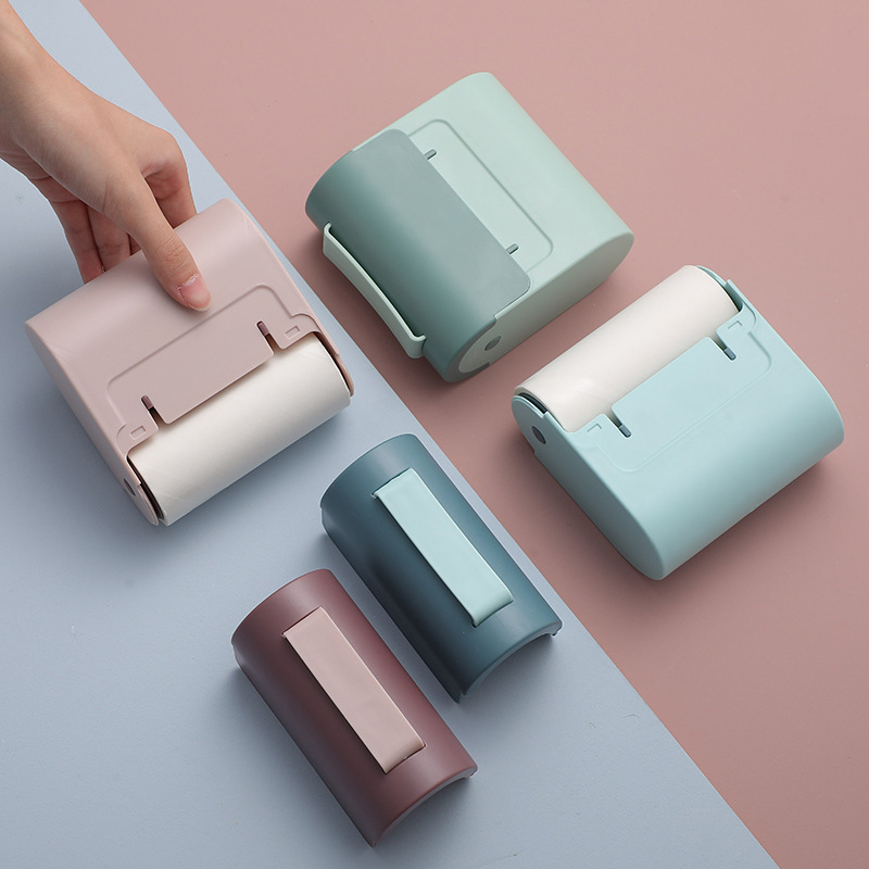 Portable Pastel Color Lint Roller for Removing Lint and Hair from Clothes