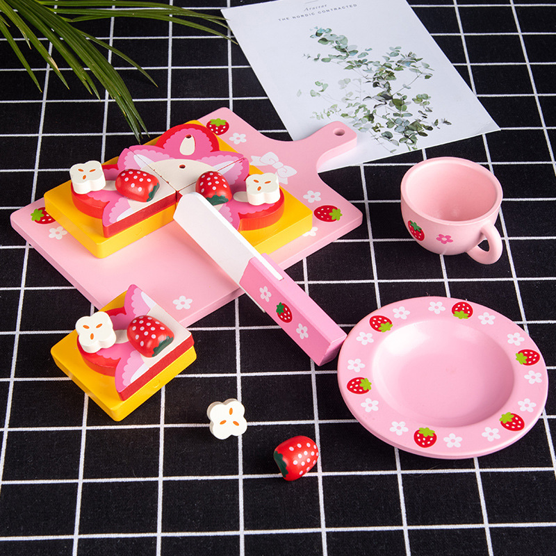 Cake Cutting Simulation Toy Set for Girls' Tea Parties