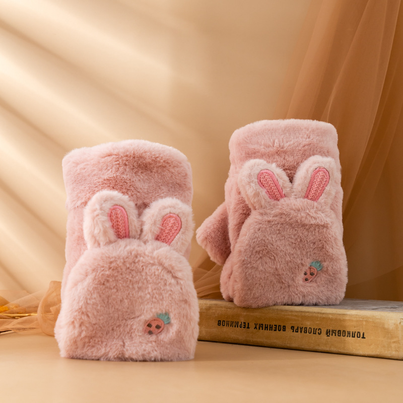 Adorable Rabbit-Ear Gloves for Cold Weathers