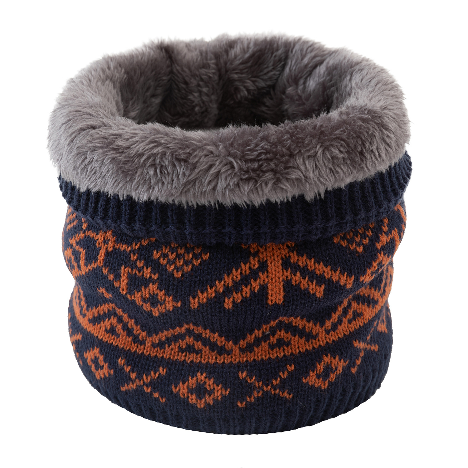 Intensive Artificial Wool Pullover Neck Scarf for Heavy Snowfalls