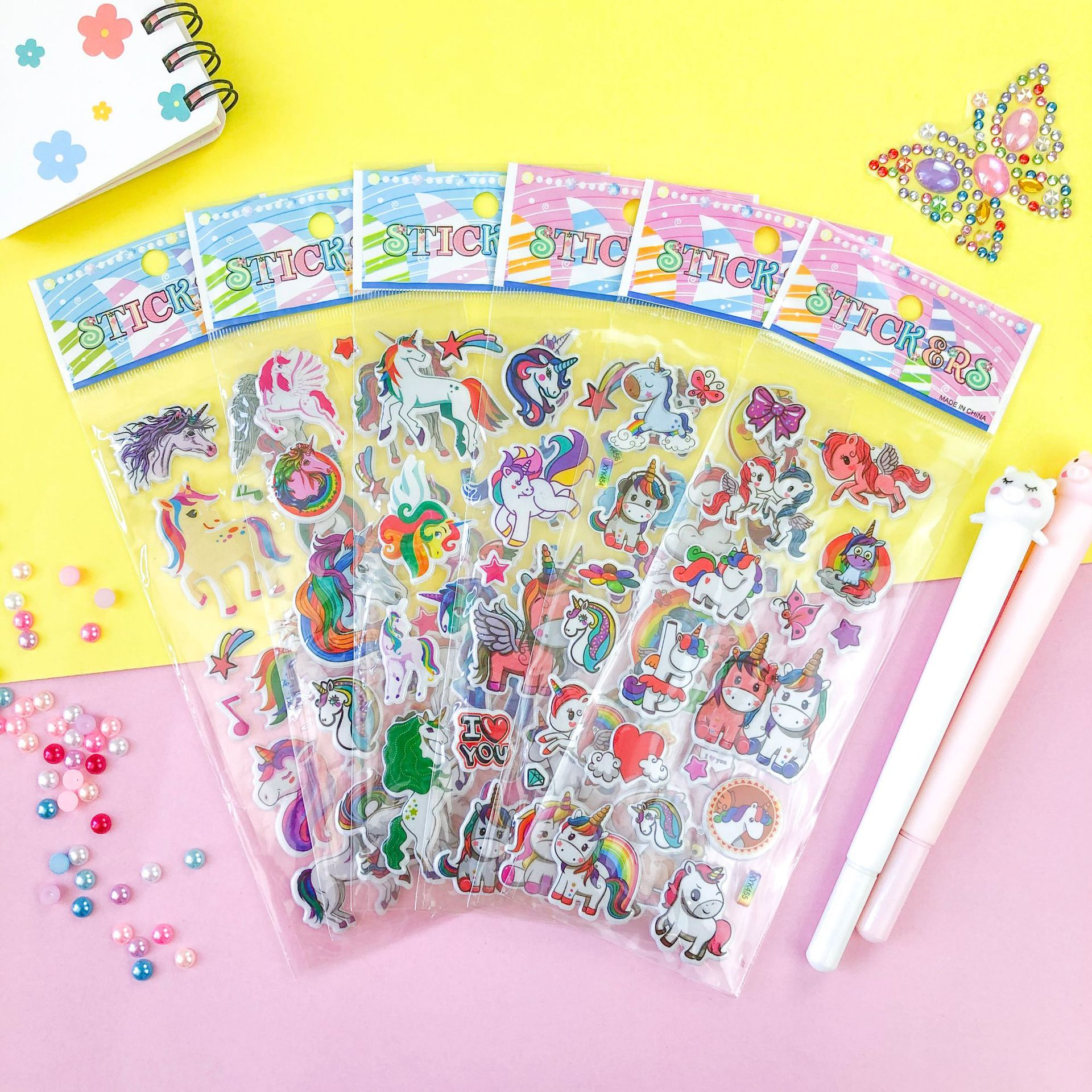 Magical Vinyl Unicorn Stickers for Little Girls' Collections