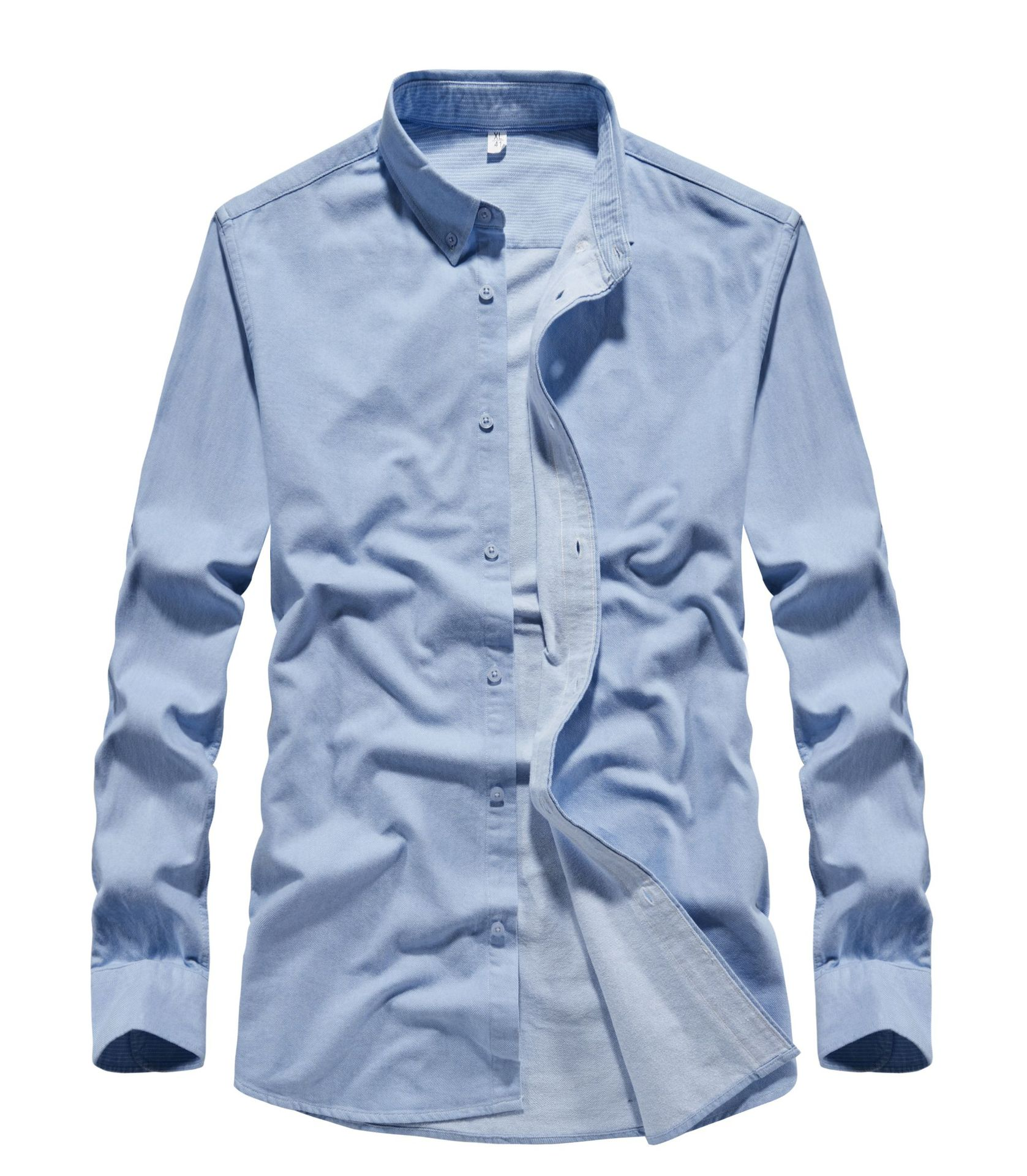 Formal Cotton Long Sleeve Button Down for Basic Officewears
