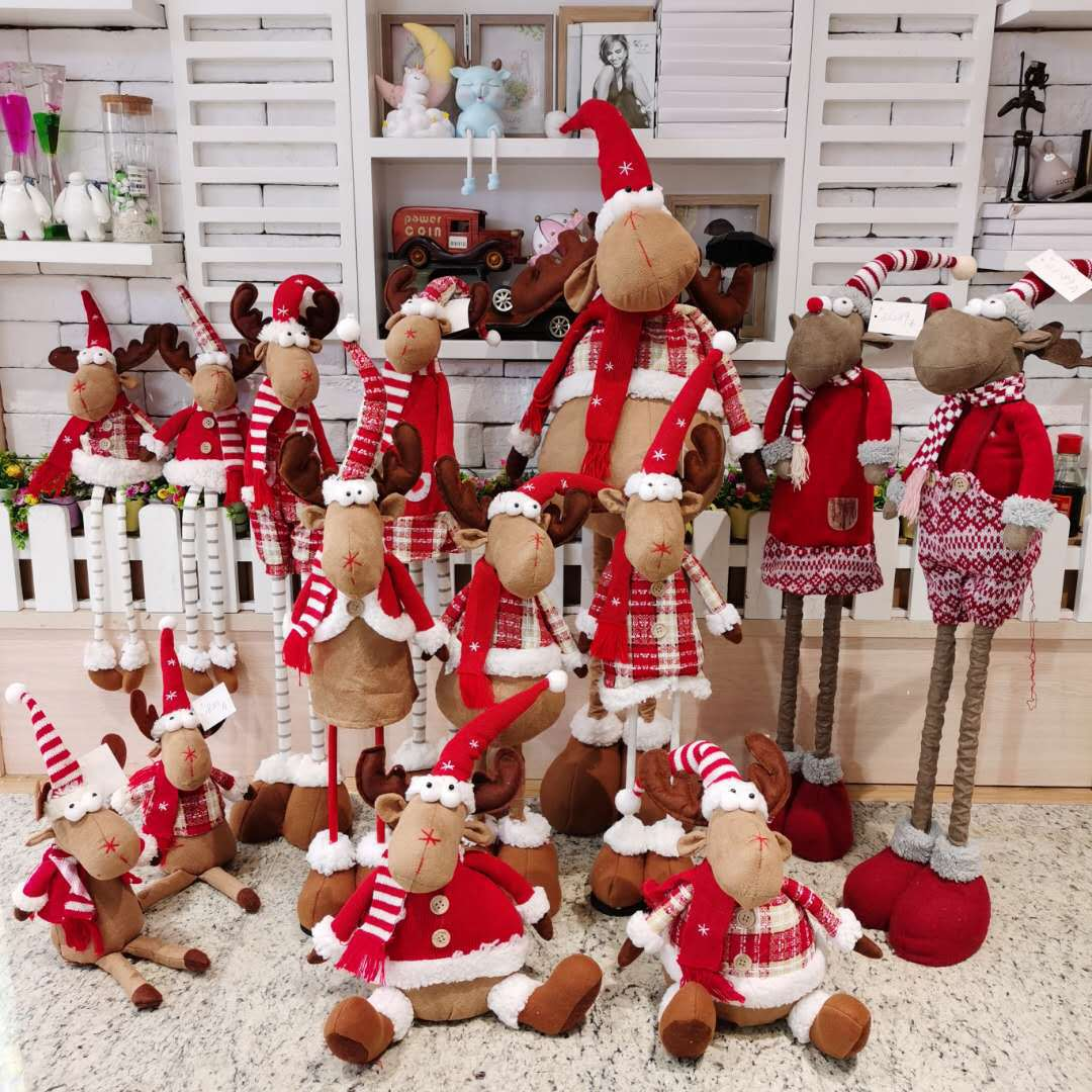 Lovely Christmas Reindeer Statue Dolls for Extra Christmas Decors