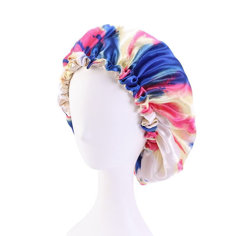 Colorful Tie-Dye Hair Cap for Keeping Your Hair Dry