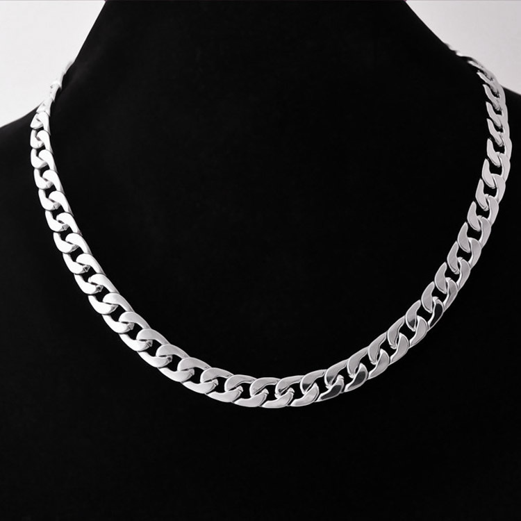 Fancy Titanium Steel Cuban Link Chain Necklace for Simple and Casual Outfits
