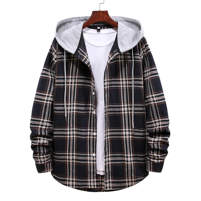 Trendy Oversized Plaid Hoodie for Cold Rainy Days