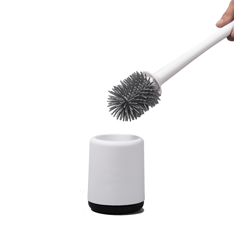 Modern and Clean Silicone Toilet Brush for Home Cleaning