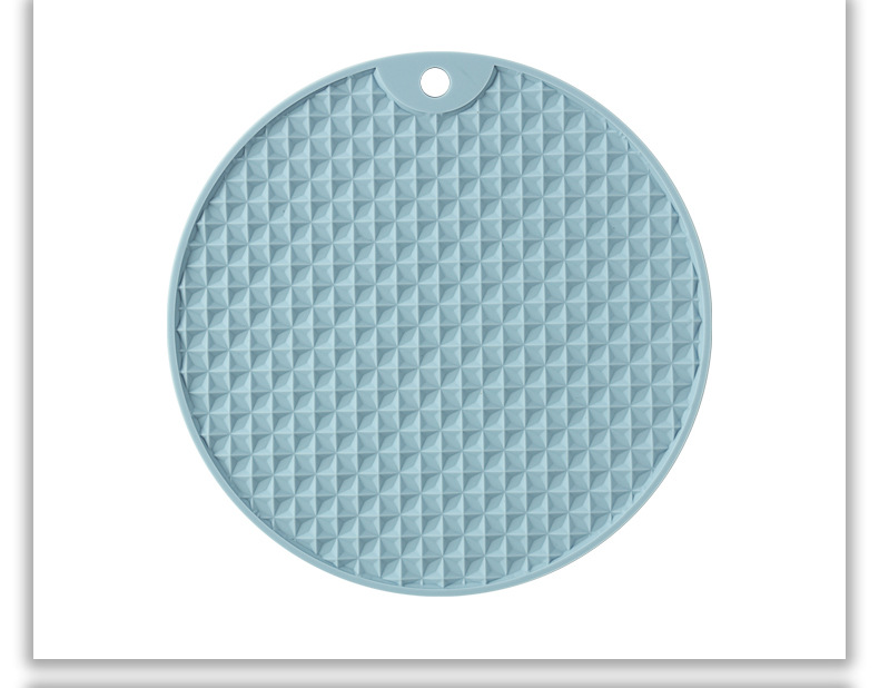 Non-Slip Round Silicone Table Mat for Hot Meals and Beverages