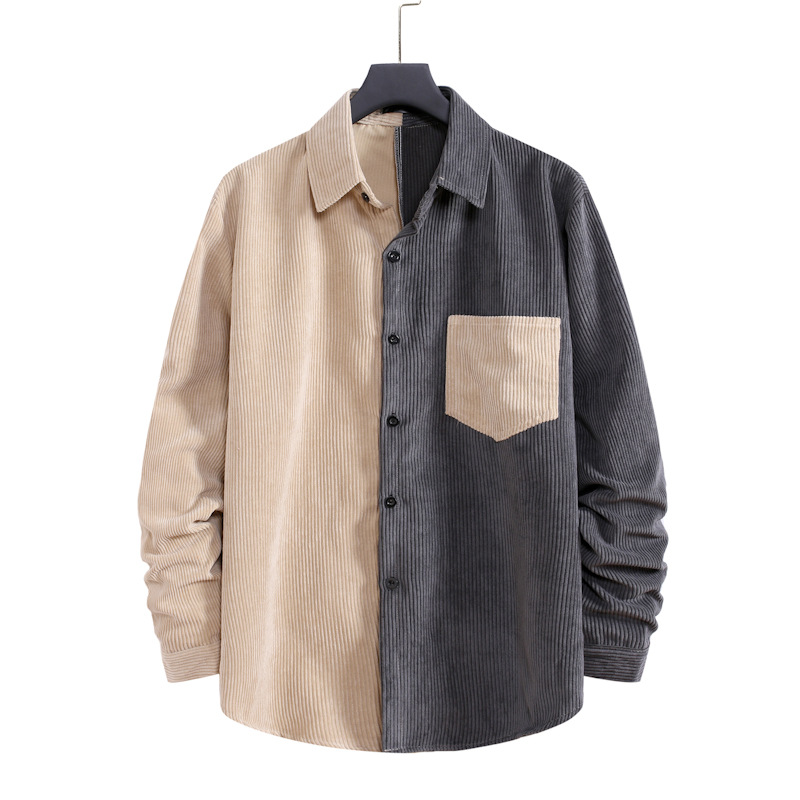 Trendy Two-Toned Corduroy Jacket for Fashionable Casual Outfits