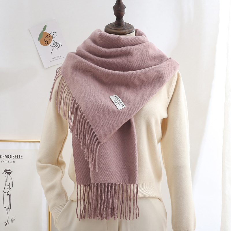 Solid Color Imitation Cashmere Shawl for All Kinds of Weather