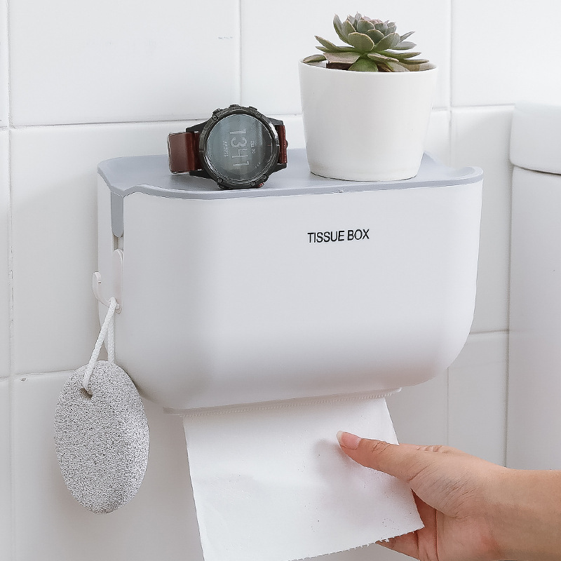 Classic Waterproof Hanging Wall Tissue Box for Bathroom