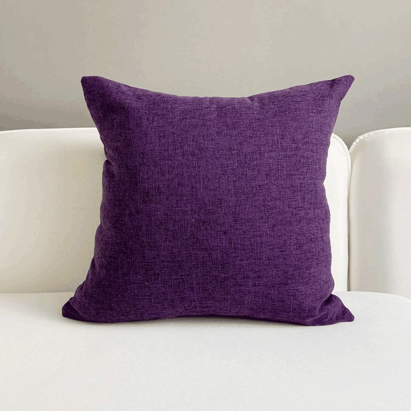 Streaky Cotton and Linen Pillow Sets for Pops of Color in Couches