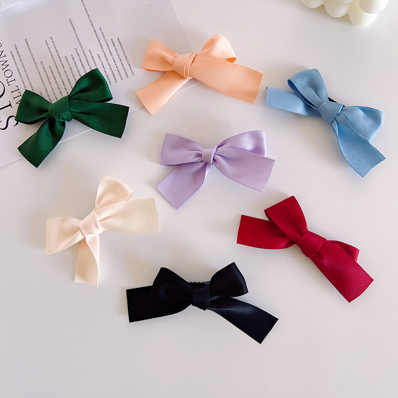 Charming Bow-Shaped Cloth Alligator Clip for Sweet Girly Looks