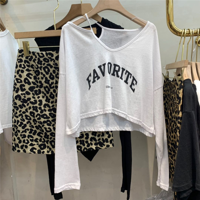 """""""Favorite"""" Single Strap One Side Off Shoulder Long Sleeve Cropped Sweater for Cool Casual Looks"""