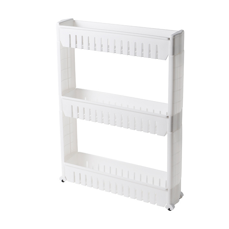 Multilayered White Shelf For Small Spaces