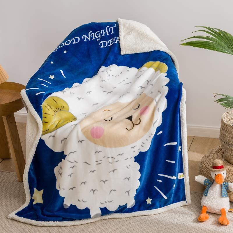 Statement Polyester Blanket with Cute Animals for Kiddie Bedrooms