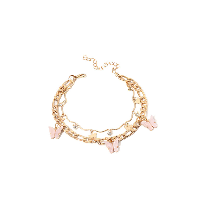 Narumi Butterflies Two Layer Anklet