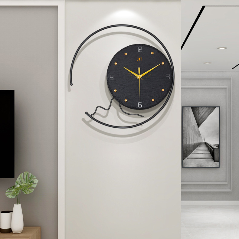 Luxurious Design Wall Clock for Extravagant Living Room Area