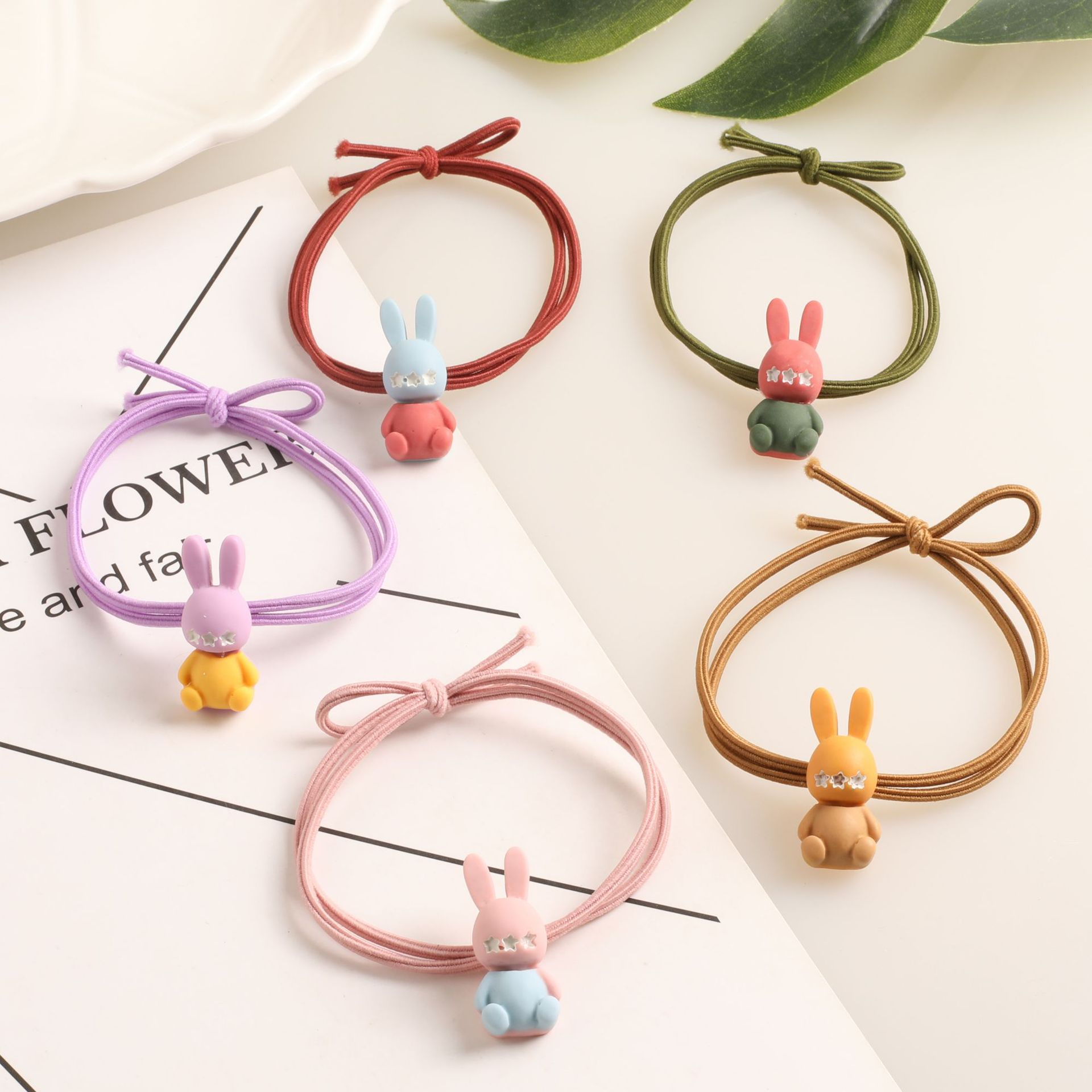 Two-Tone Bunny Hair Tie for Kids Hairstyles