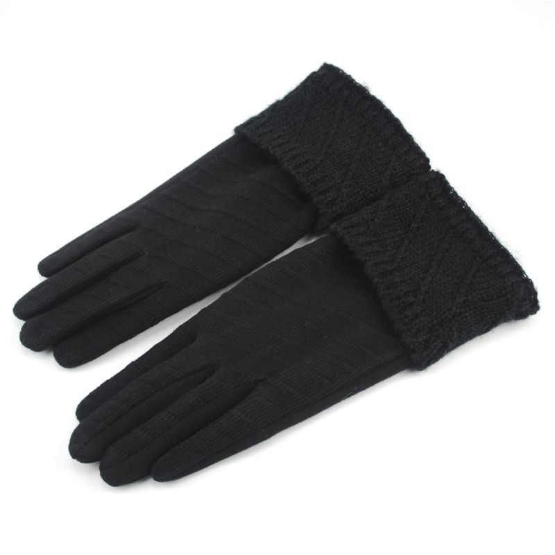 Classy Knitted Gloves for Women's Winter Fashion