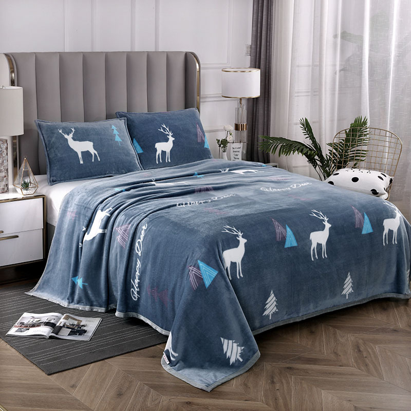 Super-Comfy Thick Flannel Fleece Blanket for Keeping  Warm During Cold Nights